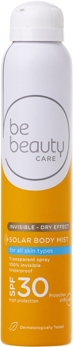 BE BEAUTY CARE SOLAR BODY MIST INVISIVEL 30 | Protetores solares: o teste
